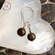 Classical Petrified Wood Earrings